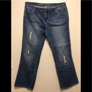 Avenue Jeans high waist Distressed  jeans  EUC